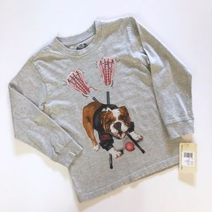 NWT Boy Wes & Willy Lacrosse Dog Sports T-Shirt 4T